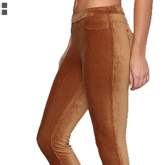 cf308b10952026 HUE Pants   Caramel Corduroy Leggings   Poshmark
